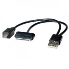 Adapters Roline USB 2.0 Galaxy+microB M