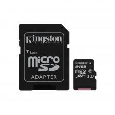 Atmiņas karte Kingston 64GB  MicroSDXC UHS-1 w/adapter