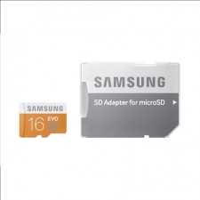 Atmiņas karte Samsung 16GB micro SDHC, class10 w/ SD adapter up to 48MB/S