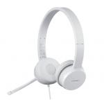 Austiņas LENOVO 110 ar mikrofonu baltas, kabelis 1.8m USB