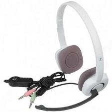 Austiņas LOGITECH H150 White 2x3.5mm, kabelis 1.75m