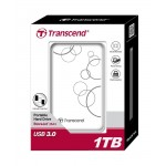 "Cietais disks ārējais Transcend 1TB 2.5"" USB 3.0 white"