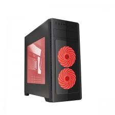 Datora korpuss GEMBIRD CCC-FC-1000R Gembird ATX case Fornax 1000R - red led fans, USB 3.0