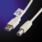 Kabelis HAMA CON.USB TYPE A-B 5M.I.P.10 grey