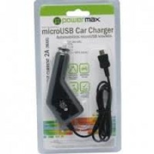 Auto lādētājs PowerMax PPC005 12-24V>5V 2A micro USB,for smartphones, GPS(Garmin)