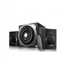 Skandas bluetooth 4.0 F&D A521X 2.1 channel Surround 16Wx2+20W RMS 120Hz-20kHz subwoofer 20Hz-120Hz USB reader Wooden black
