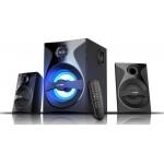 Skandas bluetooth 4.0 F&D F380X 2.1 channel Surround 54W 110Hz-20kHz subwoofer 30Hz-118Hz USB/SD card reader, FM digital LED display Remote control, Wooden black