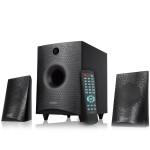 Skandas bluetooth 4.0 F&D F210X 2.1 channel Surround 15W 130Hz-20kHz subwoofer 30Hz-130Hz USB/SD card reader, FM digital LED display, Wooden black