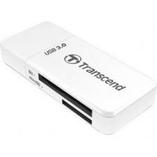 Atmiņas karšu lasītājs USB 3.1 SD/microSD Transcend balts